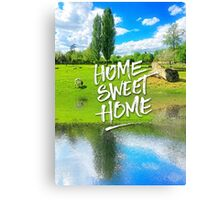 Home Sweet Home Pastoral Versailles Chateau Country Landscape Canvas Print