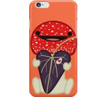 Little Shroom Man Holds a Heart Shaped Leaf iPhone Case/Skin