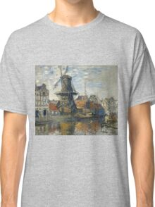 Claude Monet - The Windmill on the Onbekende Gracht  Amsterdam , Impressionism Classic T-Shirt