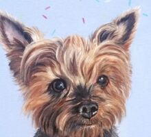 Cupcake the Yorkie Sticker