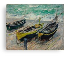 Claude Monet - Three Fishing Boats (1886) Canvas Print