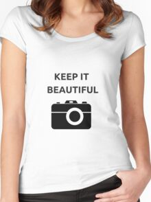 KEEP IT BEAUTIFUL Women's Fitted Scoop T-Shirt