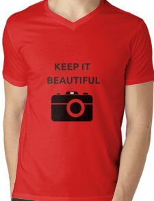 KEEP IT BEAUTIFUL Mens V-Neck T-Shirt
