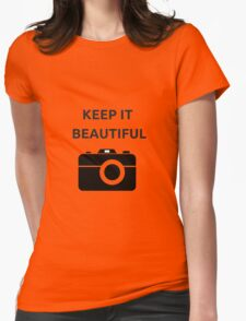 KEEP IT BEAUTIFUL Womens Fitted T-Shirt
