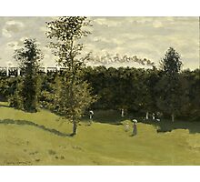 Claude Monet - Train in the Countryside , Impressionism Photographic Print