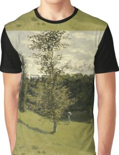 Claude Monet - Train in the Countryside , Impressionism Graphic T-Shirt