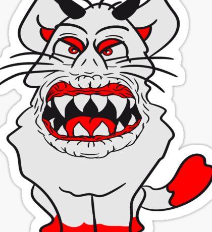 monster fear demon devil evil horns satan hell horror halloween Sticker