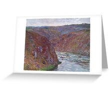 Claude Monet - Valley of the Creuse (Gray Day) (1889) Greeting Card