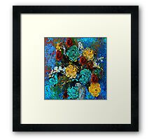 Hydrangea Orchids and Roses Framed Print
