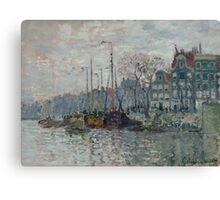 Claude Monet - View of the Prins Hendrikkade and the Kromme Waal in Amsterdam 1874 Canvas Print