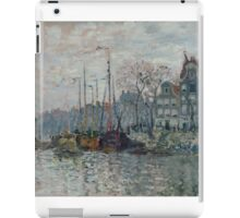 Claude Monet - View of the Prins Hendrikkade and the Kromme Waal in Amsterdam 1874 iPad Case/Skin