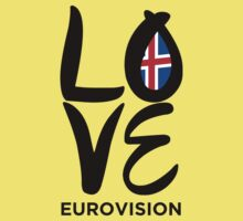 LOVE Eurovision [Iceland] One Piece - Short Sleeve