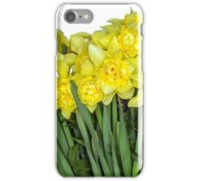 Yellow narcissus in white iPhone Case/Skin
