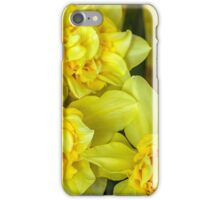 Yellow narcissus macro iPhone Case/Skin