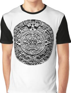 Mexican Mayan Calender the Aztec Sun Stone Graphic T-Shirt