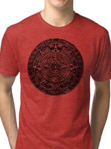 Mexican Mayan Calender the Aztec Sun Stone Tri-blend T-Shirt