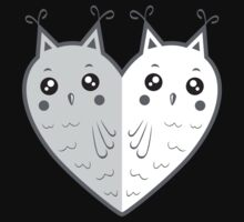 Cute owl-heart Kids Clothes