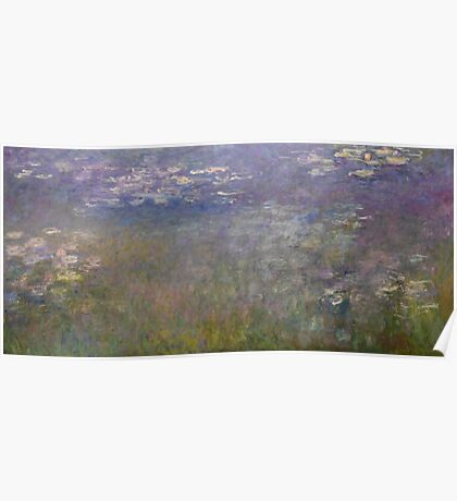 Claude Monet - Water Lilies (1915 - 1926)  Impressionism Poster