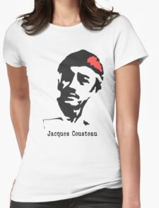 Jacques Cousteau  Womens Fitted T-Shirt