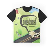cow crossing to the udder side Graphic T-Shirt