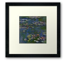 Claude Monet - Water Lilies (1916)  Impressionism Framed Print