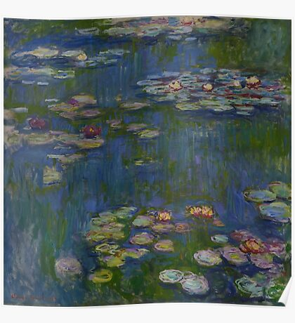 Claude Monet - Water Lilies (1916)  Impressionism Poster