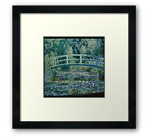 Claude Monet - Water Lilies and Japanese Bridge (1899)  Impressionism Framed Print