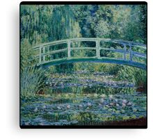 Claude Monet - Water Lilies and Japanese Bridge (1899)  Impressionism Canvas Print