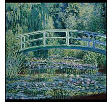 Claude Monet - Water Lilies and Japanese Bridge (1899)  Impressionism Photographic Print