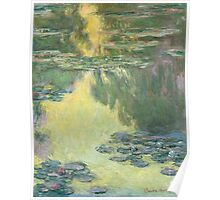 Claude Monet - Waterlilies (1907)  Impressionism Poster