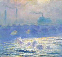 Claude Monet - Waterloo Bridge (1903) by famousartworks