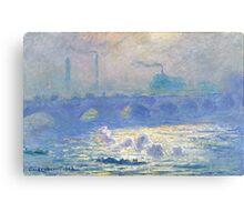 Claude Monet - Waterloo Bridge (1903) Canvas Print