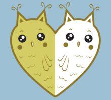 Cute owl-heart Baby Tee