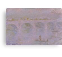 Claude Monet - Waterloo Bridge in London (1902) Canvas Print