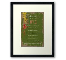 Beautitudes Framed Print