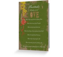 Beautitudes Greeting Card