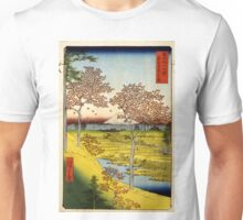 Hiroshige Ando - Sunset Hill Meguro In The Eastern Capitol - 1858 - Woodcut Unisex T-Shirt