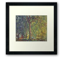Claude Monet - Weeping Willow , Impressionism) Framed Print