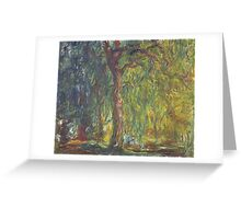 Claude Monet - Weeping Willow , Impressionism) Greeting Card