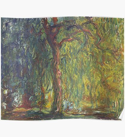 Claude Monet - Weeping Willow , Impressionism) Poster