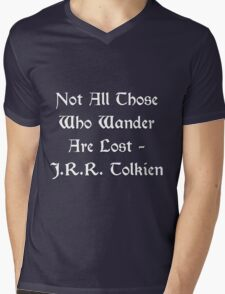 Lord of the Rings - Tolkien Quote Mens V-Neck T-Shirt