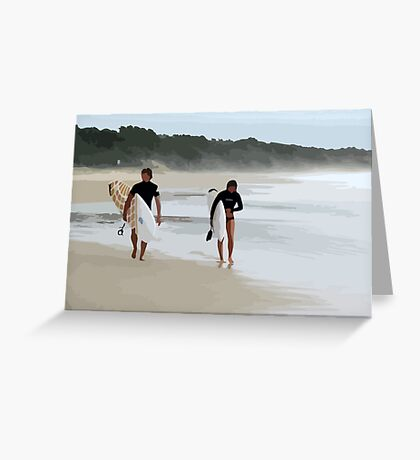 Surfer Love  Greeting Card
