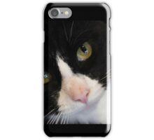 Black white cat  iPhone Case/Skin