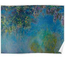 Claude Monet - Wisteria , Impressionism Poster