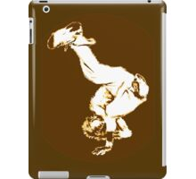 Breakdancer in brown/orange iPad Case/Skin