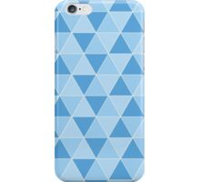 blue triangle pattern iPhone Case/Skin