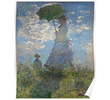 Claude Monet - Woman with a Parasol - Madame Monet and Her Son (1875) Poster