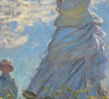 Claude Monet - Woman with a Parasol - Madame Monet and Her Son (1875) Sticker