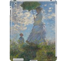 Claude Monet - Woman with a Parasol - Madame Monet and Her Son (1875) iPad Case/Skin
