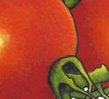 Two Tomatoes: Original Illustration: Food Sticker